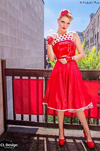 CL Design Latex Fiftie's Polka Dots Kleid Rockabilly Look - Farbwahl