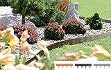 Rasenkanten vers. Farben 3,9m 5Stk Beetumrandung Beeteinfassung Holz-Optik (Braun)