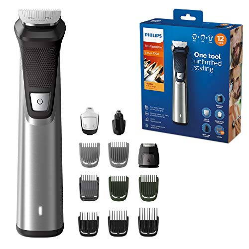 Philips Series 7000 12-in-1 Ultimate Multi Grooming Kit for Beard, Hair and Body with Nose Trimmer Attachment - MG7735/33