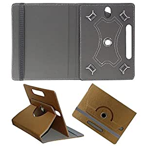 DMP Designer Rotating Case For Samsung Galaxy Tab 3 T211 P3200 P3210 Stand Co... Stand Cover Brown