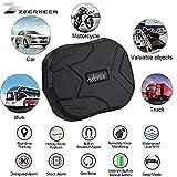 ZEERKEER GPS Tracker TKATAR Suivi en Temps réel Positionnement Double Mode GSSM/GPS Dispositif de Localisation pour Location de Voiture, Un Camion, Moto Congélateur, Bateau etc (5000mAh)