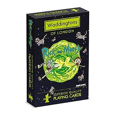 Waddingtons WM00039-EN1-12 Jeu de Cartes Rick et Morty