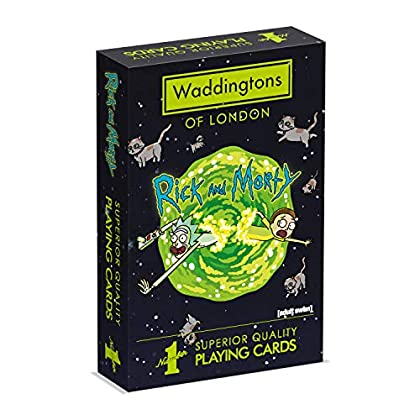 Waddingtons WM00039-EN1-12 - Juego de Cartas de Rick y Morty