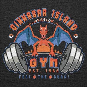 TEXLAB - Cinnabar Island Gym 1986 - Herren Langarm T-Shirt Schwarz