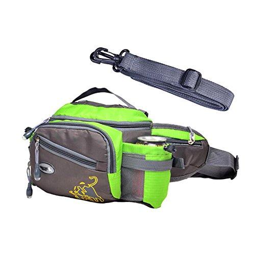 Imagen de bolso de cintura riñonera táctico multifunción de deporte de la cremallera bolsa de botella bolsillos impermeables riñonera de ocio al aire libre bolsa de hombro único bolsa sling bolsa