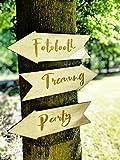 Großes Holzschild für Hochzeit │ Pfeil aus Holz mit Ihrem Text │ Individuelles Wegweiser-Schild für Party und Hochzeit