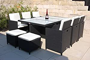 nordland gartenm bel set narvik polyrattan f r 6 4 personen inkl wei er glasplatten. Black Bedroom Furniture Sets. Home Design Ideas