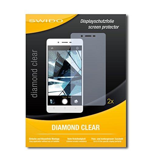 SWIDO 2 x Displayschutzfolie Oppo Mirror 5s Schutzfolie Folie DiamondClear unsichtbar