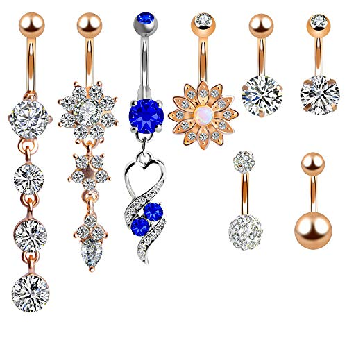 Belly Bars, Outee 8 Pcs Belly Bu...