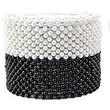 960PCS Pearlized Head pins, Sumersha decorativo rotondo Manmade Pearl testa corpetto cucito pins dritto spilli (nero + bianco)