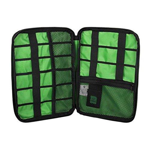Preisvergleich Produktbild Forfar Travel Kit Werkzeug Nylon Wasserdicht Kabelhalter Camping Wandern Organizer Elektronik Zubehör USB Laufwerk Tasche Outdoor Sportarten