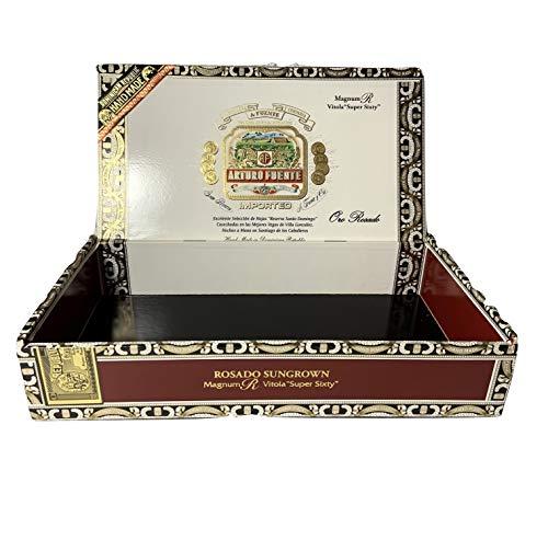 Arturo Fuente Premium Zigarrenbox aus Holz zum Basteln, Gitarren oder Aufbewahren Magnum R Vitola braun