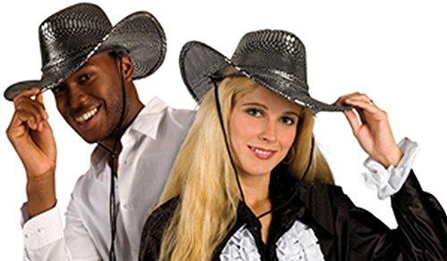 Cowboy Kostüm Muster - Cowboyhut silber Schlangen Muster für Cowboy