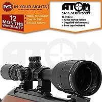 Atom 4-16x50 AO Antigolpes Alcance del Rifle/Ajustable Iluminado mildot Retículo mira Incluye monturas - 9.5-11mm Dovetail Mounts