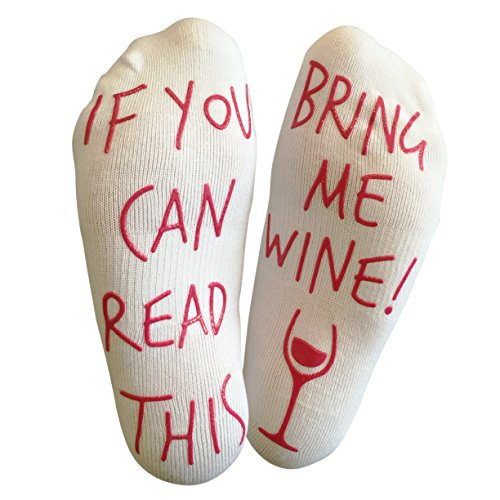 'If You Can Read This Bring Me Wine' Funny Socks - Perfect gift for wine lover who has everything