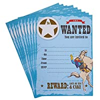 Neviti Wild West Cowboys Birthday Party Invitations - 10 pack