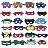 Zanskar Maschere per Bambini,24pcs Maschere di Supereroi Mask con Corda Elastica,Ideale per Feste di Bambini
