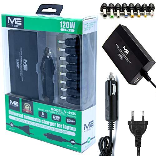2in1 Ladekabel Netzteil Notebook Laptop Universal 120W 220v 12v Kfz für IBM ASUS Toshiba Dell Acer Output: 15V, 16V, 18,5V, 19V, 19,5V ~ 4.5A, Output: 20V(21V), 12v 24V (120W)