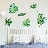 Aufkleber,Resplend Grüne Pflanzen Wandsticker DIY Tapete Wandbilder Dekorative Kreative Entfernbare Wandaufkleber Raumdekoration Wanddeko Wandtattoo (Grün)