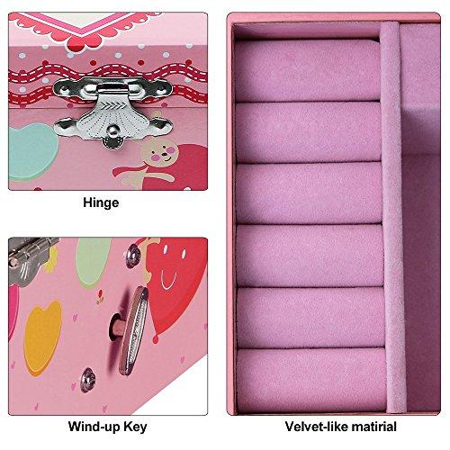 Songmics Schmuckkästchen Musikspieldose Spieldosen Musikdosen Spieluhren - Spieluhr für Kinder mit Spiegel JMC002 - 5