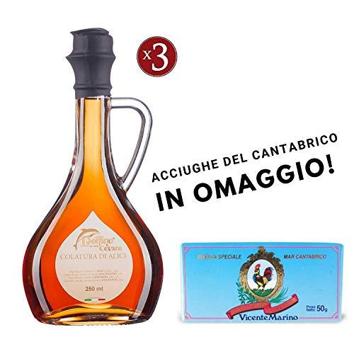 Colatura di Alici di Cetara, 250 ml - 3 BOTTIGLIE + OMAGGIO CANTABRICO