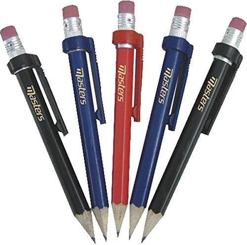 masters golf sport pratique en bois Crayons avec attache & GOMME Pack de 5
