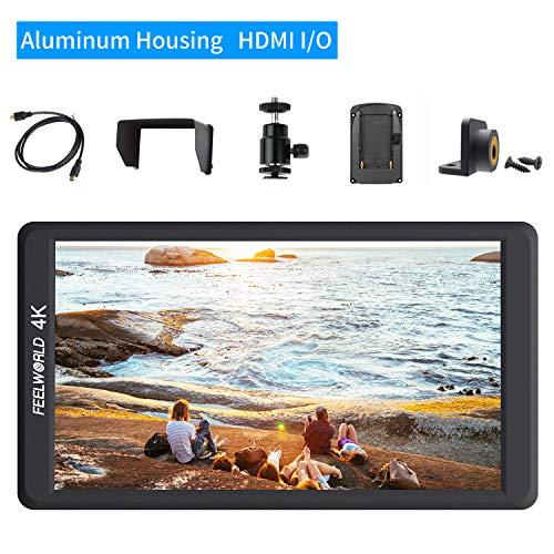 FEELWORLD F570 14,5 cm Full HD 1920 x 1080 IPS unterstützt 4K HDMI Input/Output DSLR-Kamera-Monitore, Full Aluminium-Gehäuse mit Histogramm False Video Camcoder Sucher für Sony, Nikon, Canon, GH5, Bmp Sony-video-gehäuse