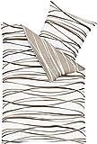 Kaeppel Edel - Seersucker Bettwäsche Motion Natur 1 x 80x80 + 1 x 155x220 cm