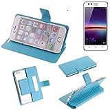 K-S-Trade Flipcover für Huawei Y3 II Dual-SIM Schutz Hülle Schutzhülle Flip Cover Handy case Smartphone Handyhülle blau