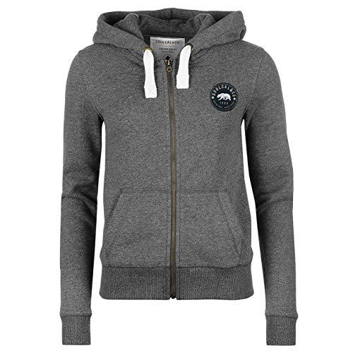 Rv-damen-sweatshirt (SoulCal Signature Damen RV Kapuzenpullover Dunkel Charcoal M XS)