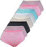 PiriModa 8er Pack Damen Baumwolle Unterhosen Übergrößen Spitze Schöne Modelle Größe 40-56 (40/42, Modell 9)