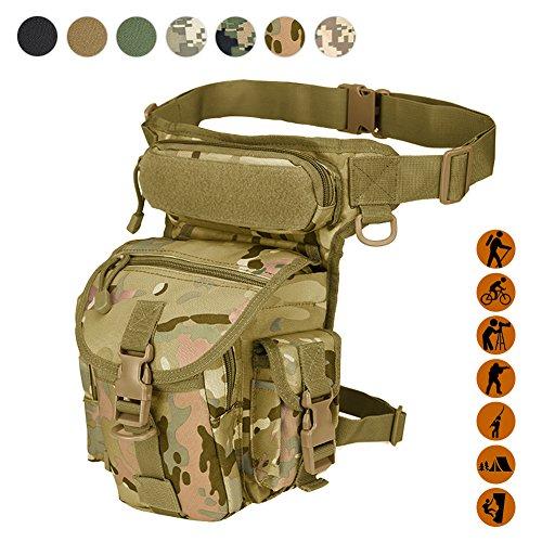 Military Tactical Drop Leg Tasche Fanny Oberschenkel Pack Bein Rig Utility Pouch Paintball Softair Motorrad Reiten Versipack Thermite, schwarz/hellbraun/Armee Grün/Camouflage. 7 Farben, CP Camouflage