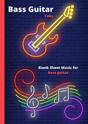 Bass Guitar Tabs: Blank Sheet music pages with Tab lines for 4 string bass