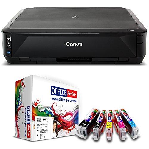 Canon PIXMA iP7250 Farb Tintenstrahldrucker inkl. 5 kompatiblen OFFICE-Partner Patronen + USB Kabel...