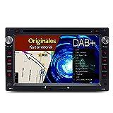 A-Sure 7 Zoll 2 Din DAB+ Autoradio Navi DVD GPS Bluetooth FM Radio RDS Für VW Golf 4 T4 T5 Passat B5 BORA Transporter MK4 MK5 POLO Sharan LUPO original Kartematerial (49 europäische Länder)W4W5AQ