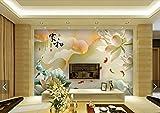 Tantoto 3D Wallpaper Schnitzen Von 3D Jade, Lotosfisch, Nahtlose Wandmalerei, Tapete, Wohnzimmer, Fernsehsofa, Hintergrundtapete, Tapete.