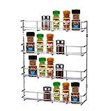 EXZACT EXSR004-4 Gewürzregal 4 Ebenen/ Herb und Spice Rack 4 Tiers - Küchenregal Organizer für Gläser, perfekt platzsparend und Lagerung (4-stufig)