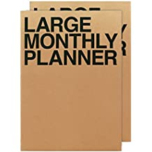 Jstory Large Personal Monthly Planner X2 14 Sheets Brown