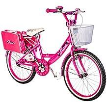 """F.lli Schiano Roses - Bicicleta para niño, color fucsia / blanco, 20"""""""