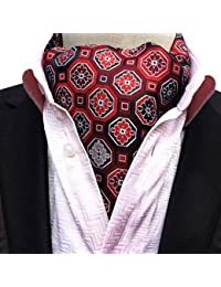 COMVIP Cravate Foulard Vintage pour Homme Imprimé en Polyester Élégance 7b5504dfd35
