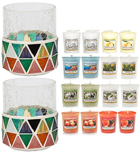 Official-Yankee-Candle-18-Piece-Corsica-Crackle-Mosaic-Holders-Votive-Gift-Set