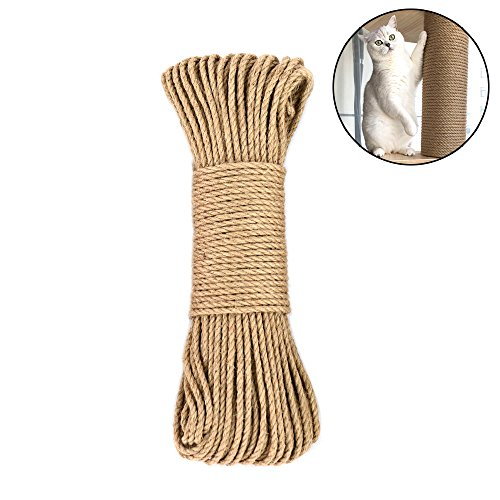 Amakunft Hanf Seil für Katzen Baum und Tower, DIY Cat Kratzbaum Sisal Seil für Katzen Kratzbaum Baum Ersatz, Spielen Flexible Kratzfläche -