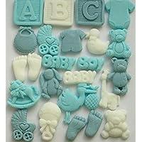 Decoración comestible para cupcakes de bebé, regalos de baby shower, decoración para tartas, fiesta de primer cumpleaños, bautizo, fiesta de reventa de género
