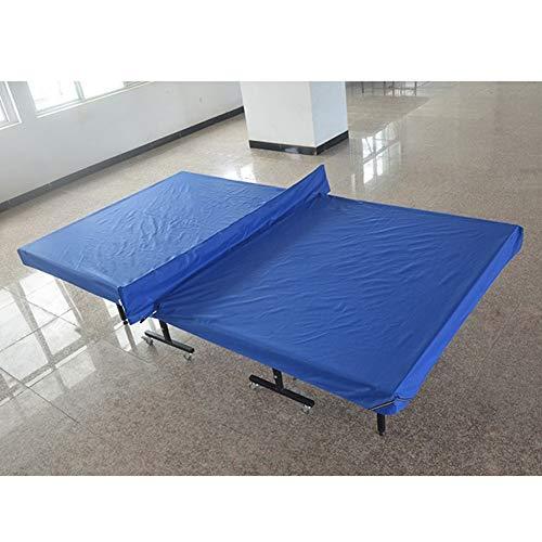 Blauer Outdoor-tischtennistisch (ZHANWEI Gartenmöbel Abdeckung Abdeckplane Schutzhülle Gartentisch Billardtisch Staubschutzhaube Tischtennis Tisch Wasserdicht Sonnencreme Regenfest Oxford-Tuch Blau Plane)