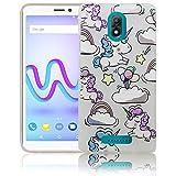 Wiko Jerry 3 Passend Einhorn Baby süße Handy-Hülle Silikon - staubdicht, stoßfest & leicht - Smartphone-Case