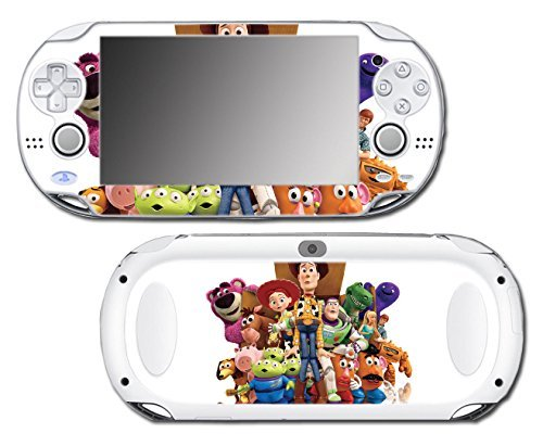 Toy Story 1 2 3 4 Buzz Lightyear Woody Jessie Barbie Ken Mr Potato Head Rex Video Game Vinyl Decal Skin Sticker Cover for Sony Playstation Vita Regular Fat 1000 Series System by Vinyl Skin Designs
