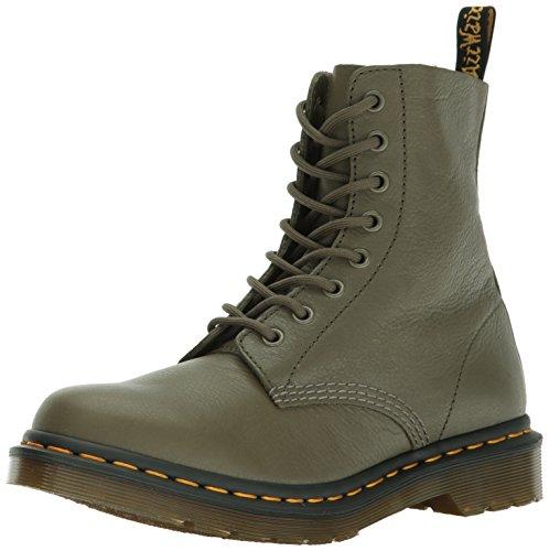 Dr. Martens Damen Pascal Khaki Virginia Combat Boots, Braun (Khaki), 38 EU (Martens 5 Eye)