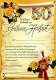 Riesen-Goldhochzeit Urkunde Grußkarte Zur goldenen Hochzeit 50... A4