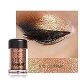 Barbarer Lidschatten Palette, Glitter Perlglanz Lidschatten Pulver Eye Shadow Makeup Pearl Schimmer Metallic Kosmetik Eyeshadow Palette -18 Farben (10)