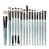 Dorical Make-up-Pinsel set 15 Stück/Professionellen Schminkpinsel Kosmetikpinsel Lidschatten Gesichtspinsel Eyeliner Cosmetics Pinselset Schmink Pinselset Blau